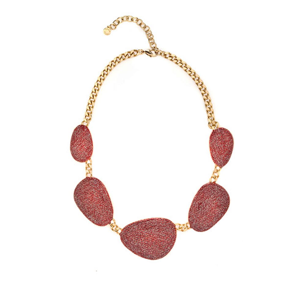 Stardust Large Goldtone Multi Discs Collar Necklace