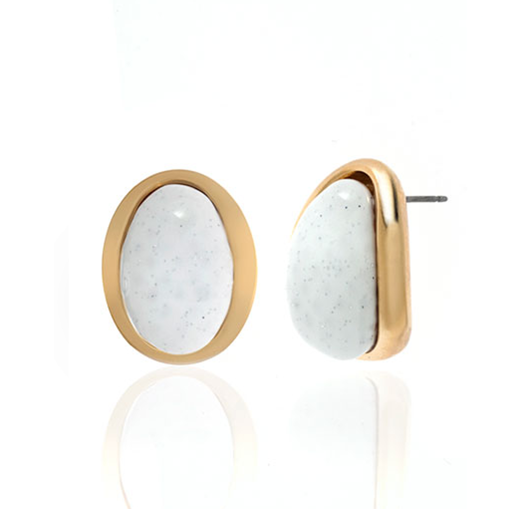 White Sharkskin Earrings