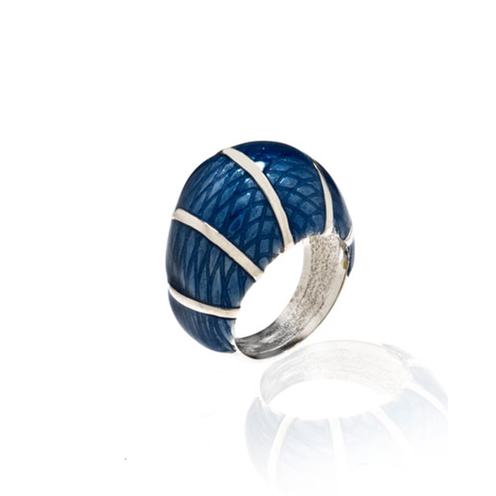 Snakeskin Light Blue Ring