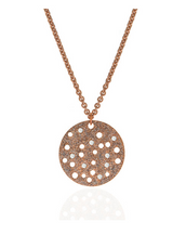 Stardust Radiance Rose Gold Tone Disc Necklace