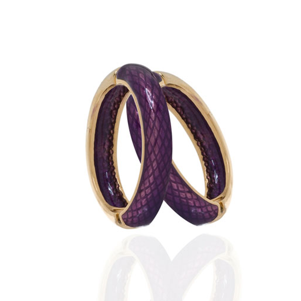 Snakeskin Amethyst Hoop-Eze Earrings