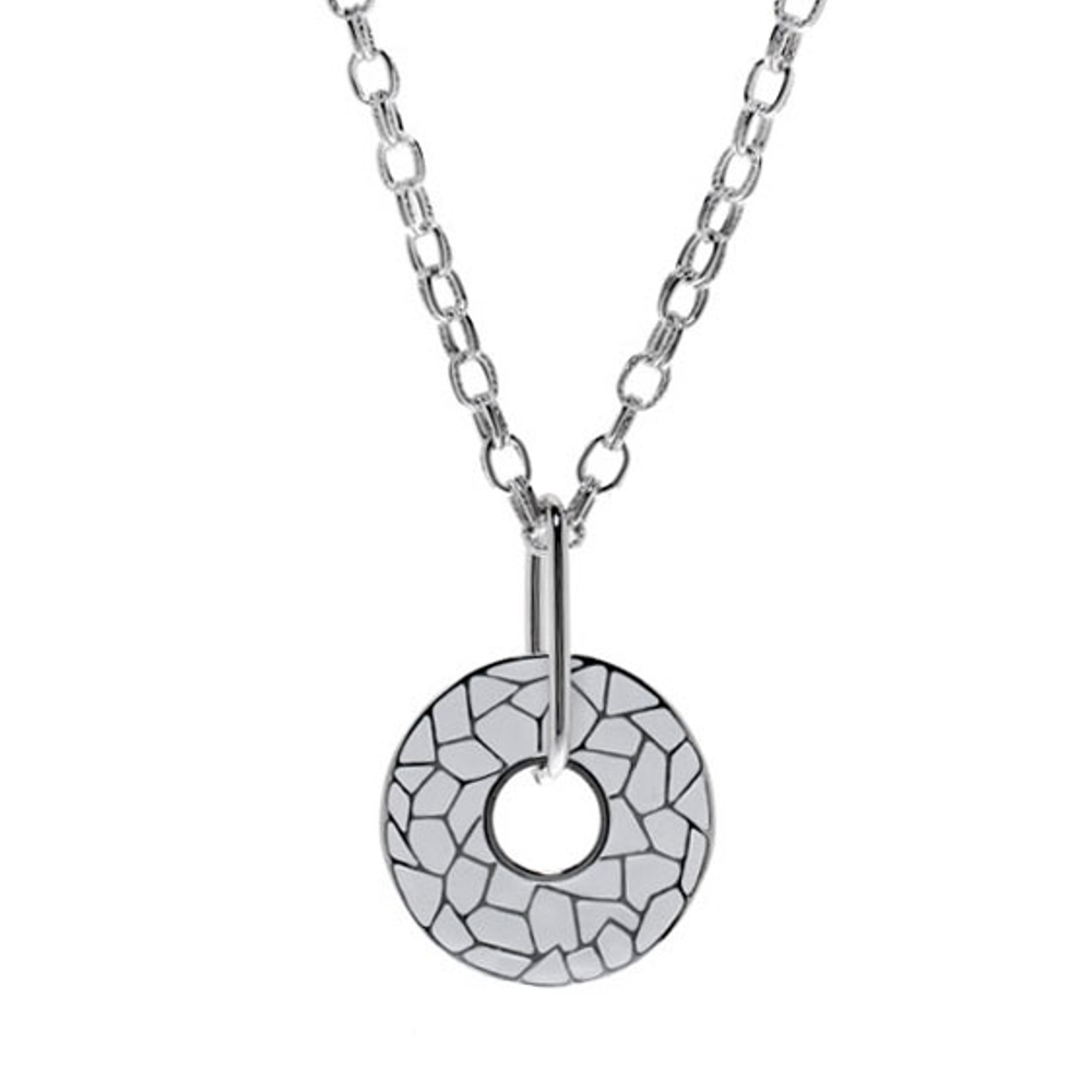 White Italian Riviera Open Disc Pendant Necklace