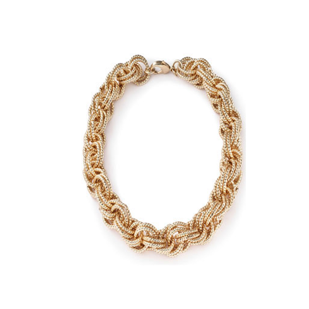 Signature Medium Gold Tone Necklace