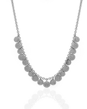 Silvertone Stardust Multiple Seashell Necklace