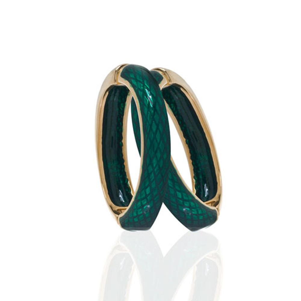 Snakeskin Emerald Hoop-Eze Earrings