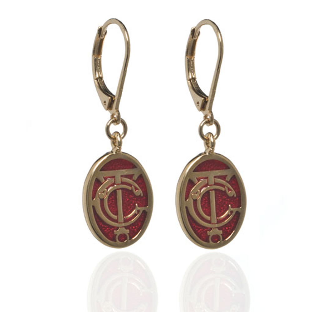 Grand Central Red Goldtone Drop Earrings