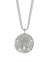 Stardust Silver Sand Dollar Necklace
