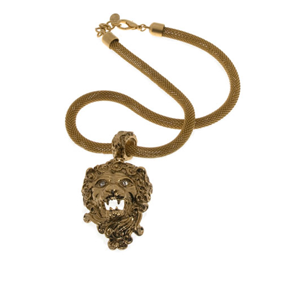 Lion Pendant Collar Necklace