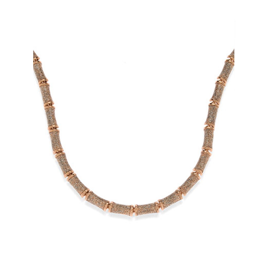 Rose Gold Stardust Segmented Bamboo Necklace