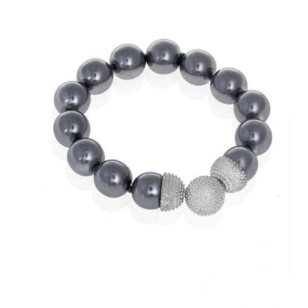 Gray 14mm Caviar Magnetic Attractions™ Bracelet