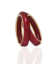 Snakeskin Red Hoop-Eze Earrings