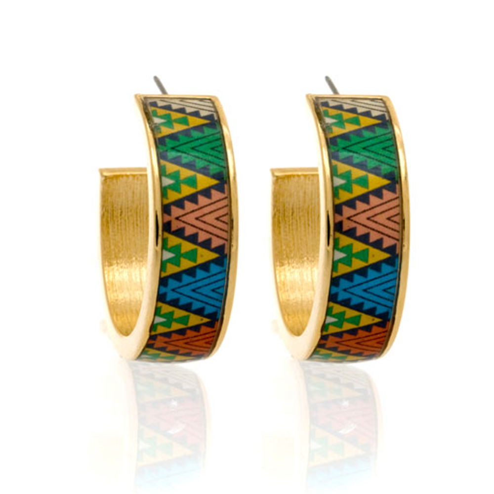 MAYA™ Aztec Triangle Hoop Earrings