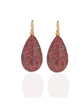 Stardust Red Tear Drop Earring