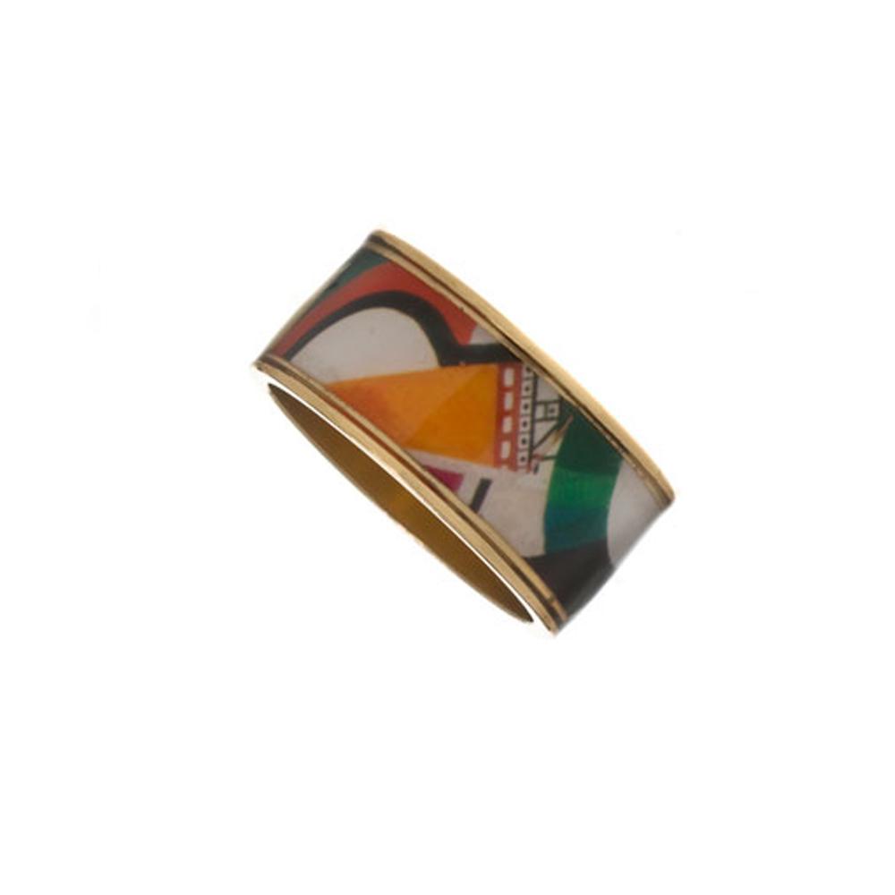 "MAYA™ Geometric Orange Cone 3/8"" Ring"