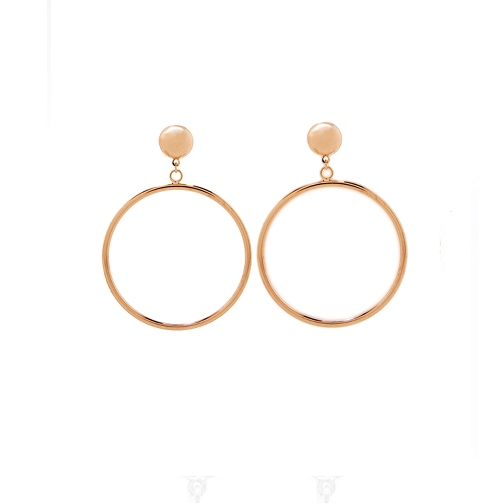 Door Knocker Hoop Earring Rose Gold Tone.