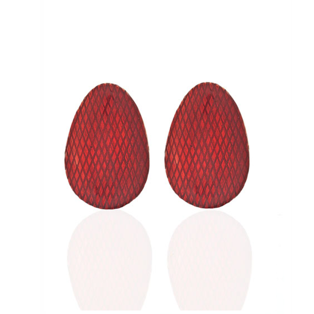 Red Button Earring