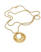 Molten Gold Circles Chain Necklace