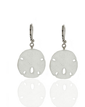 Stardust White Large Sand Dollar Earrings