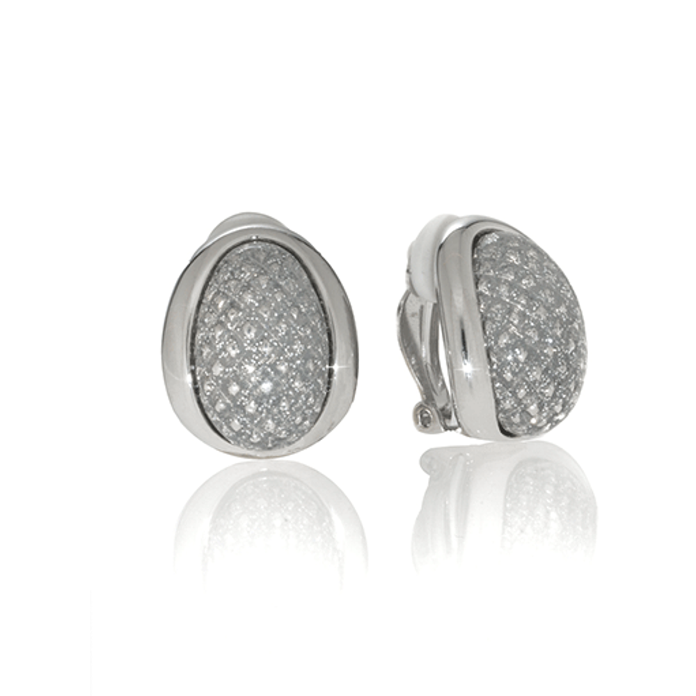 Stardust Silver Sharkskin Earrings
