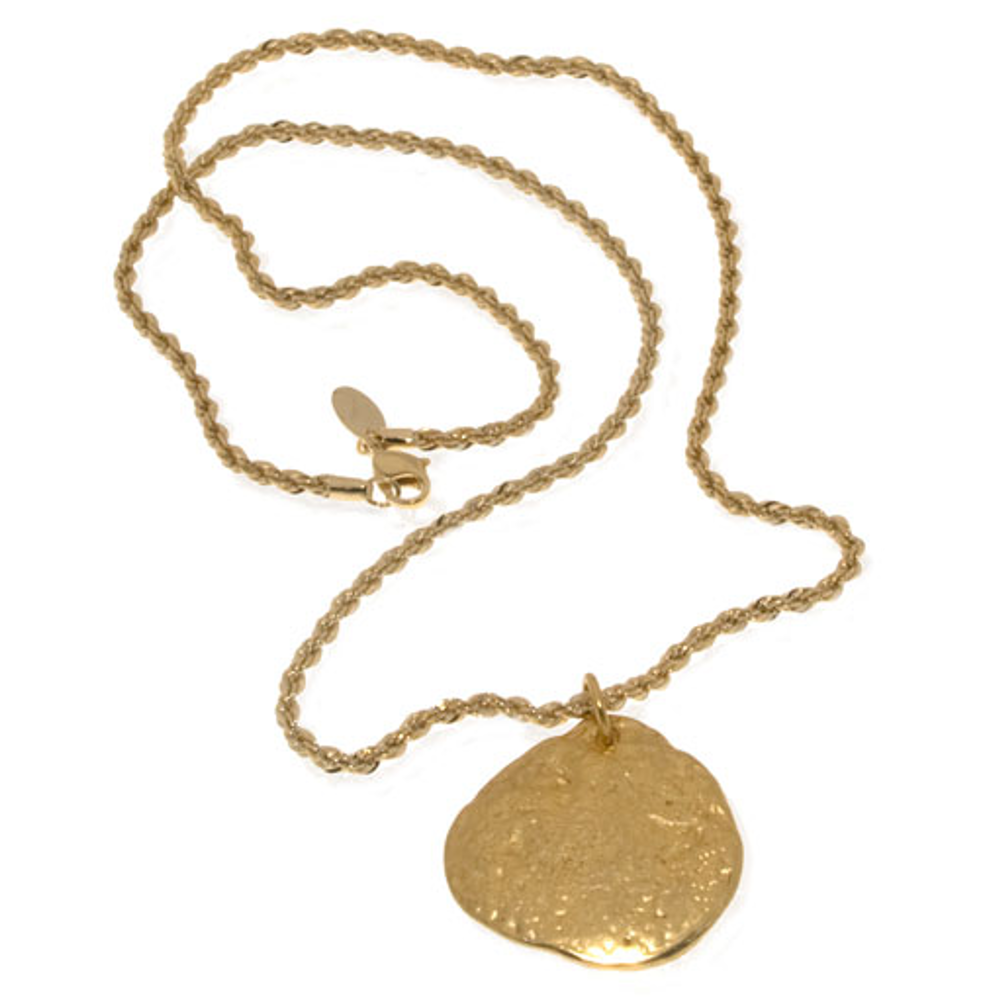 Molten Gold Disc Chain Necklace