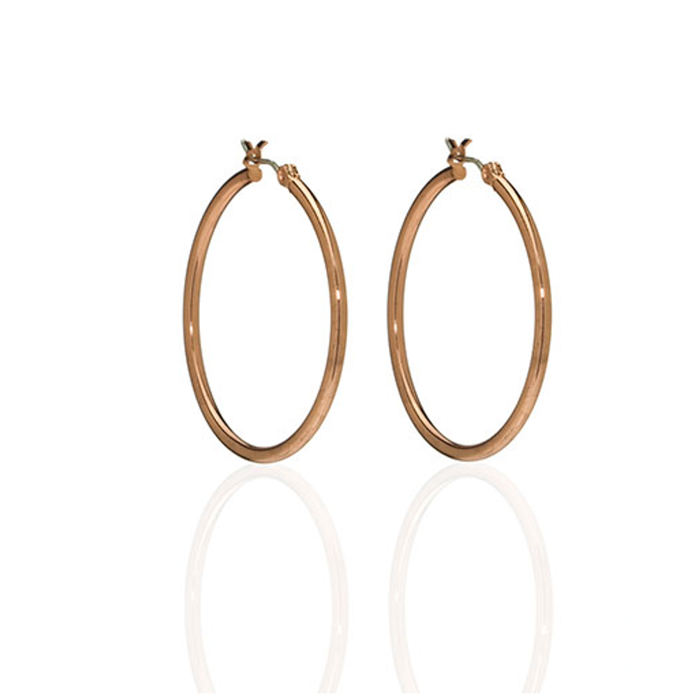 Rose Gold Slim Hoop Earrings