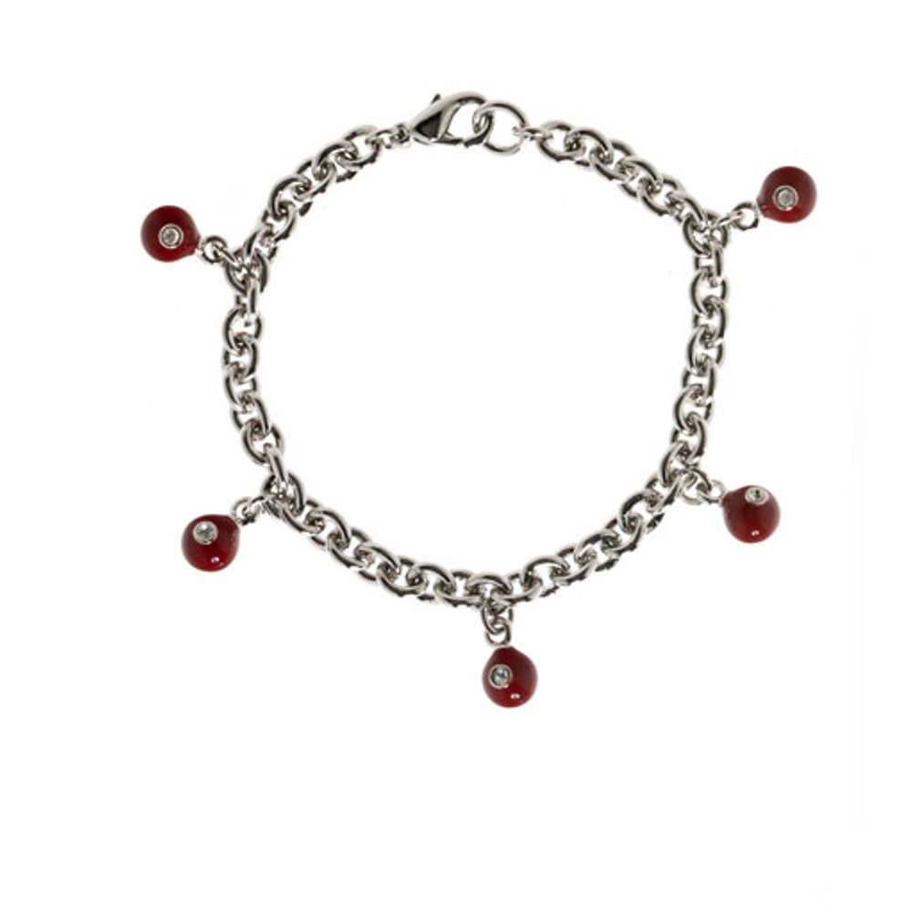 Red Starlight Charm Bracelet