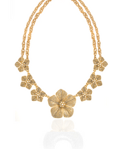 Stardust Gold Large Flower Collar Necklace