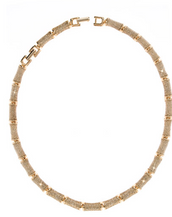Gold Stardust Segmented Bamboo Necklace