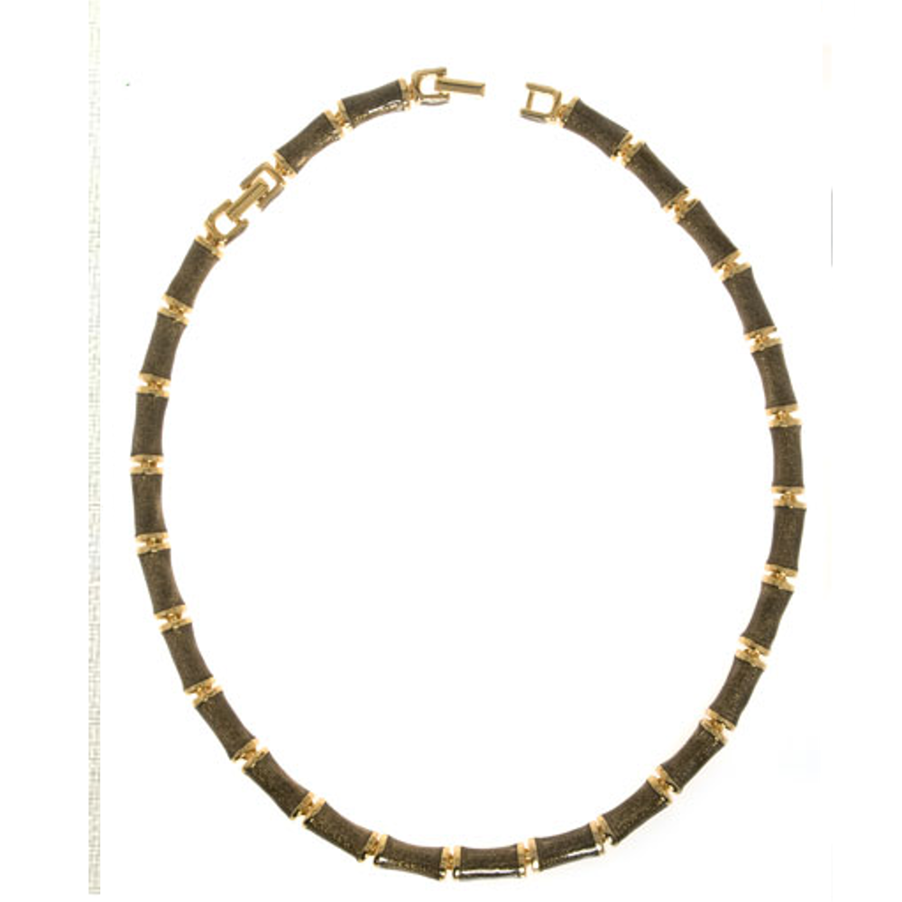 Brown Snakeskin Segmented Bamboo Necklace