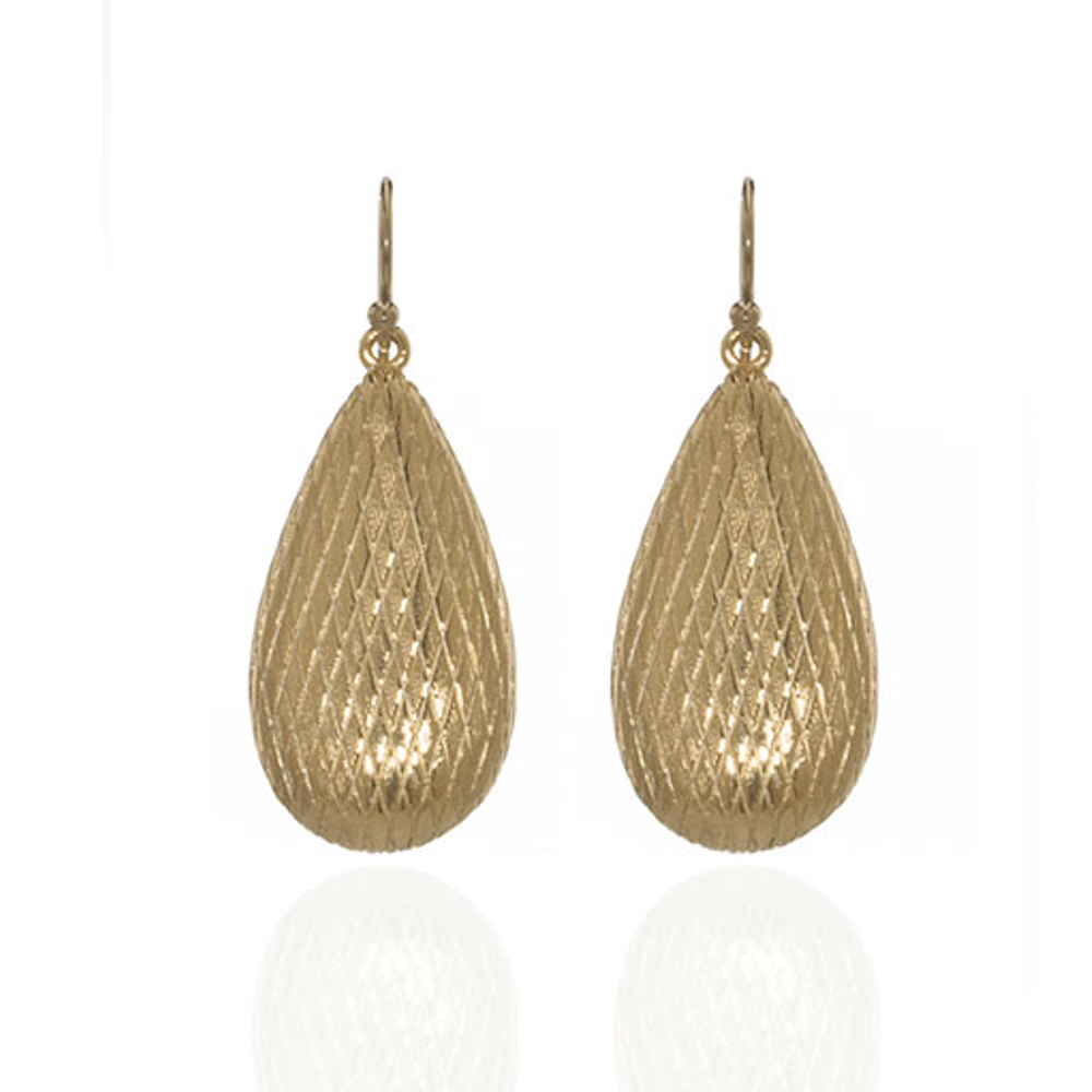 Goldtone Tear Drop Earring
