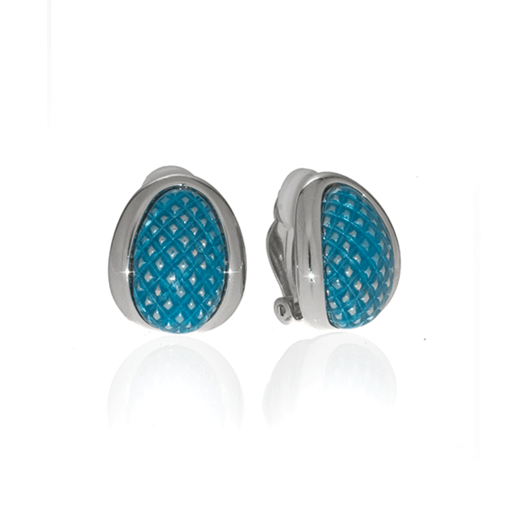 Celestial Blue Sharkskin Earrings