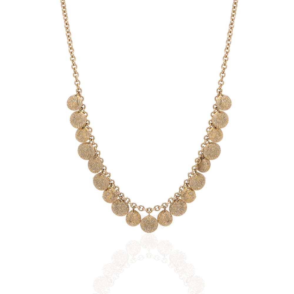 Goldtone Stardust Multiple Seashell Necklace