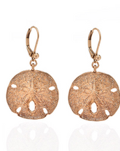 Stardust Rose Gold Large Sand Dollar Earrings
