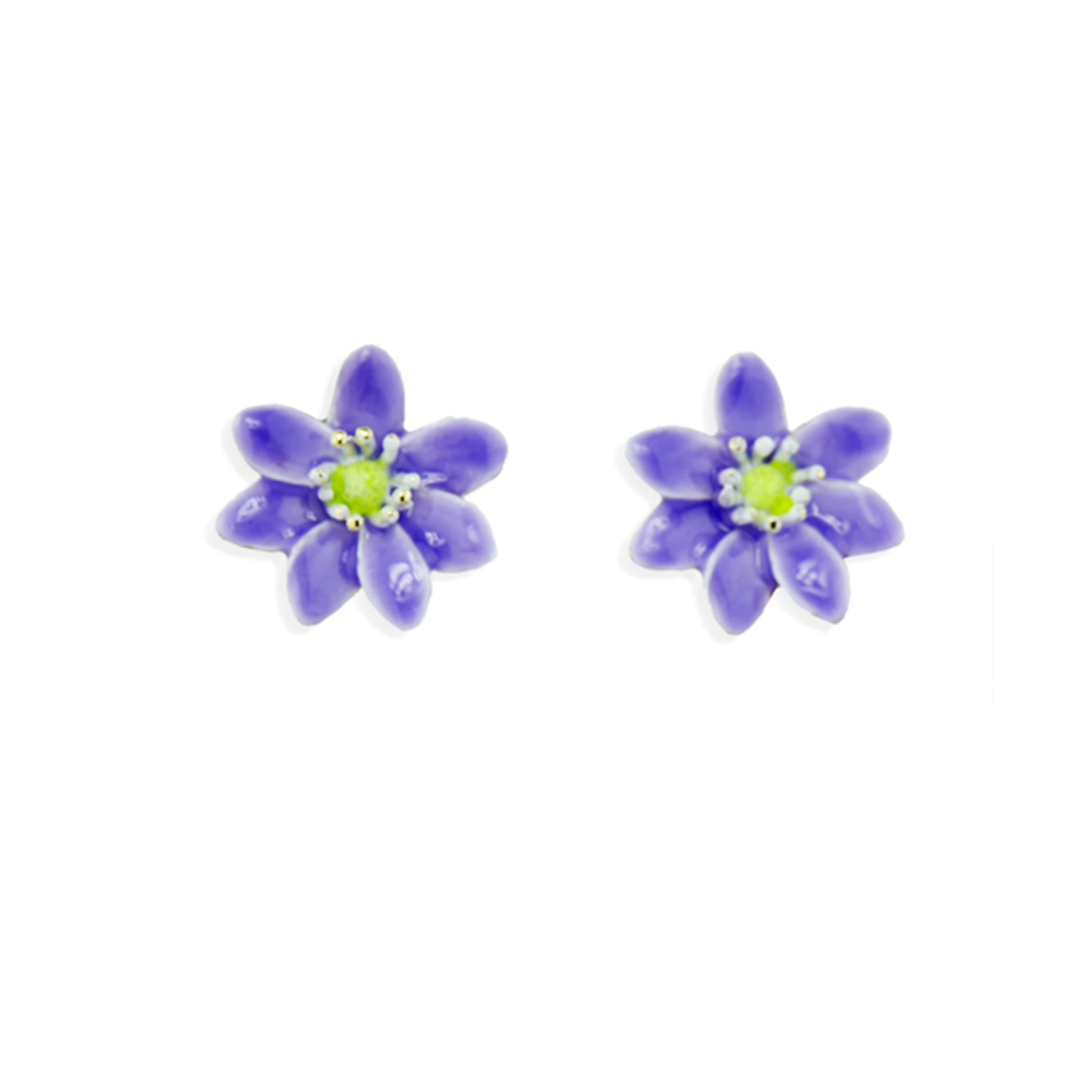 Hepatica Pierced Earrings