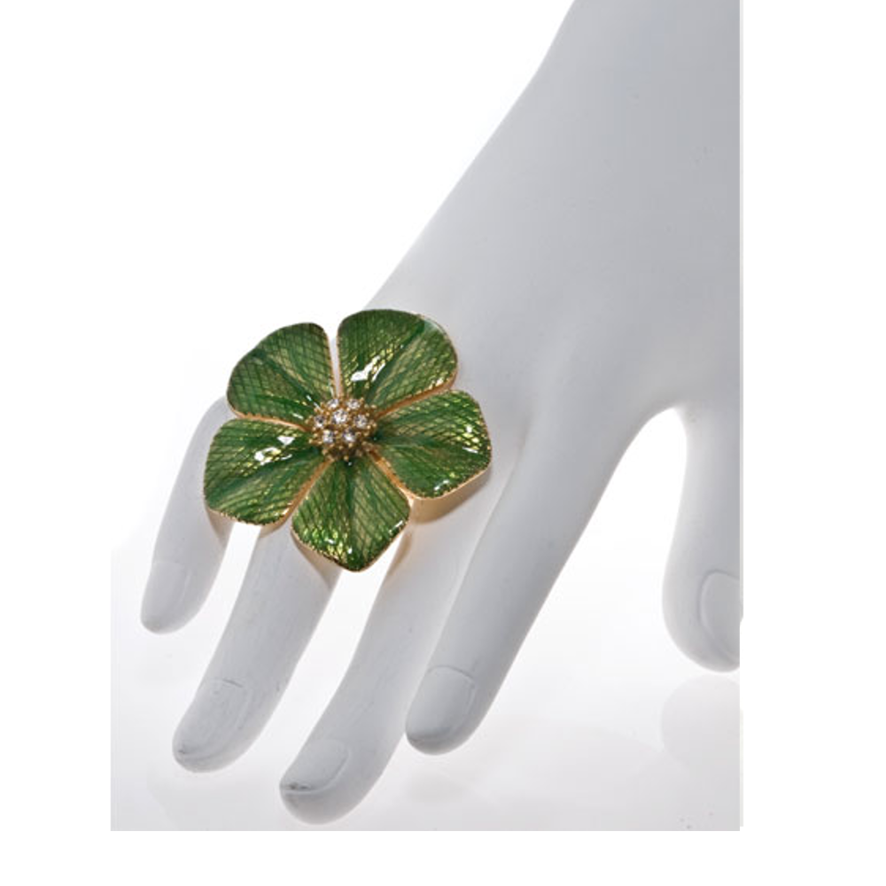 Garden of Love Green Flower Ring