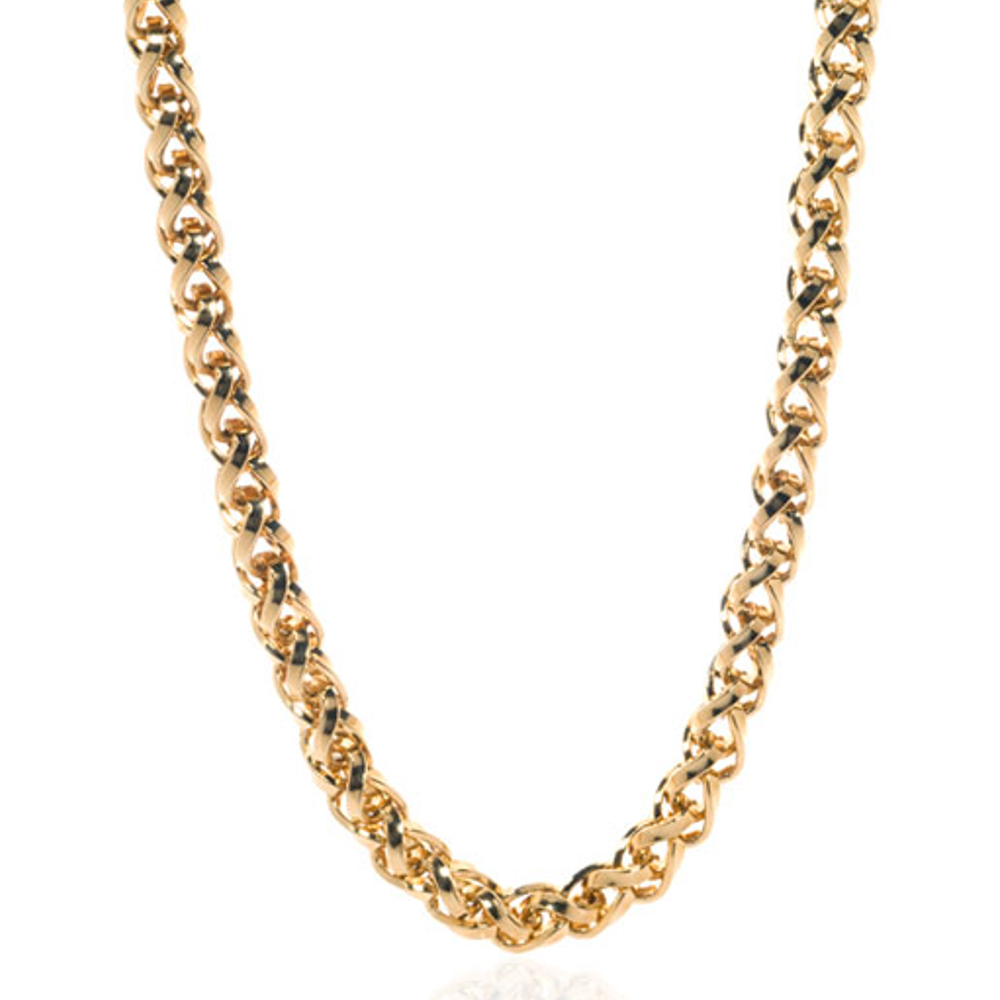 Large Wheat Link Chain Necklace