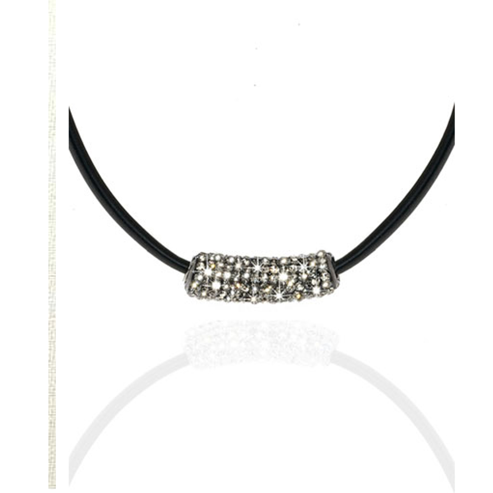 Black Diamond Station Necklace
