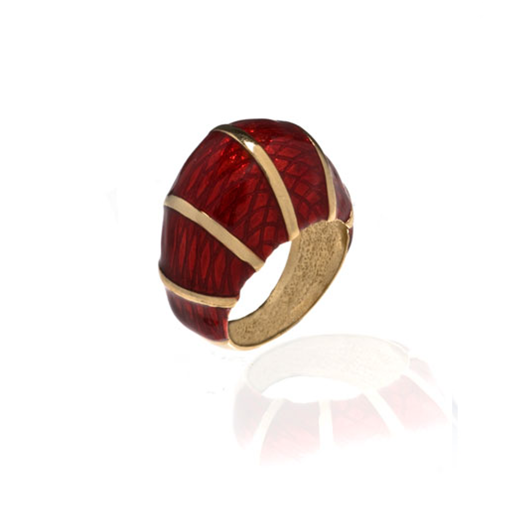 Snakeskin Red Ring
