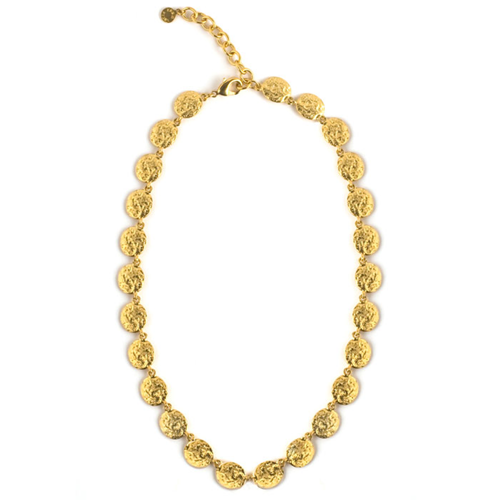 Molten Gold Multiple Disc Chain Necklace