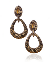 Berry Gold Tone Tear Drop Earrings