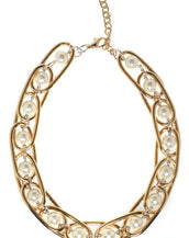 Excelsior Gold Tone Collar Necklace