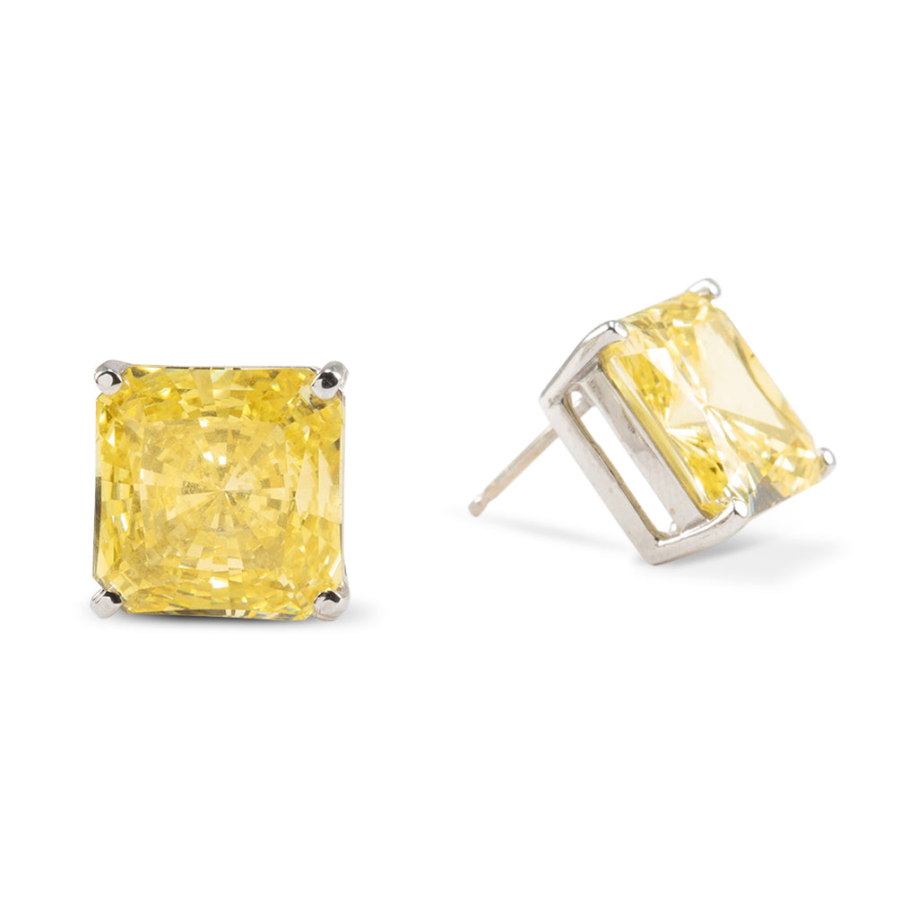 14k White Gold  Canary Radiant Cut