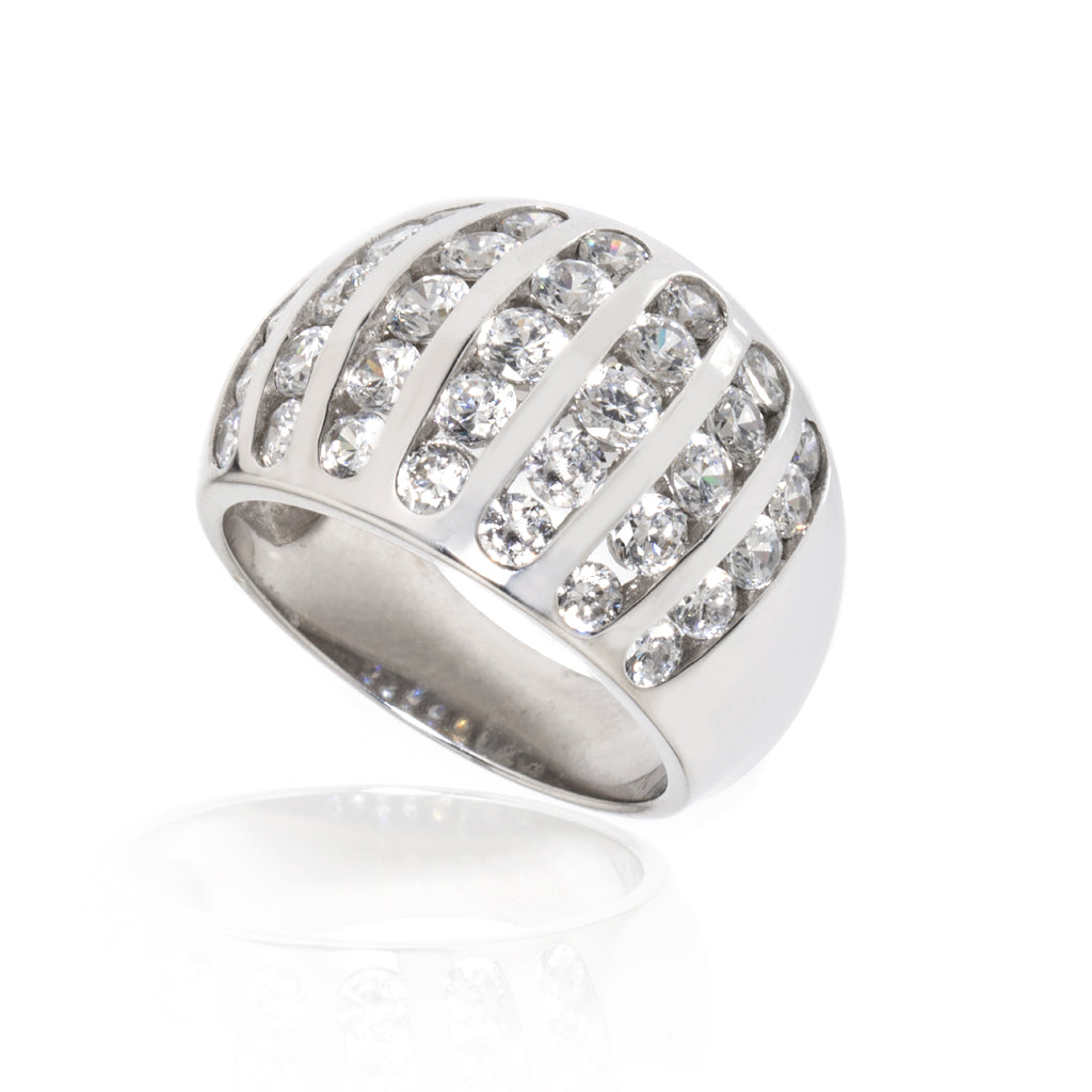 14k White Gold 2.25 Carat CZ Ring