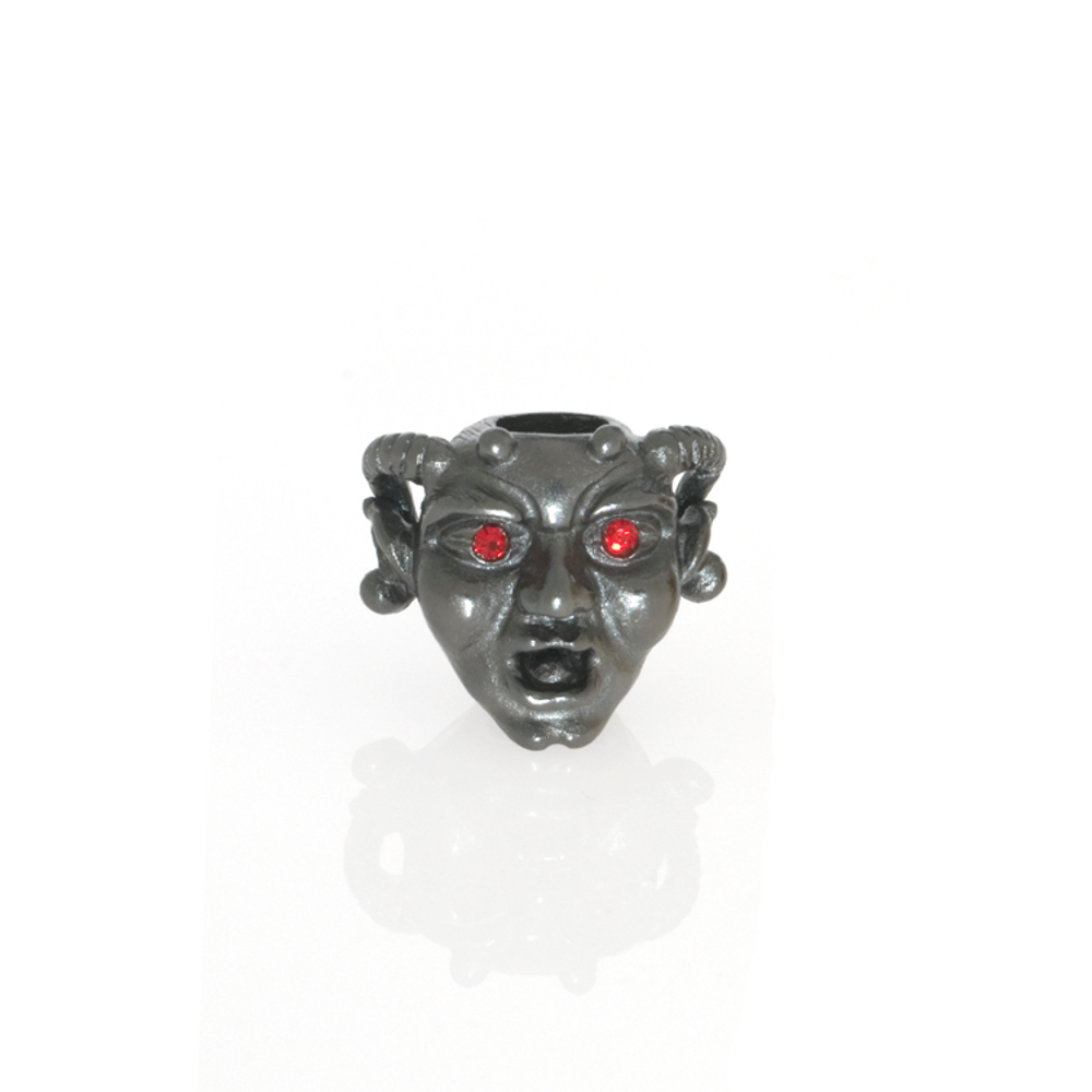 Hematite Horned Gargoyle with Siam Eyes Charm