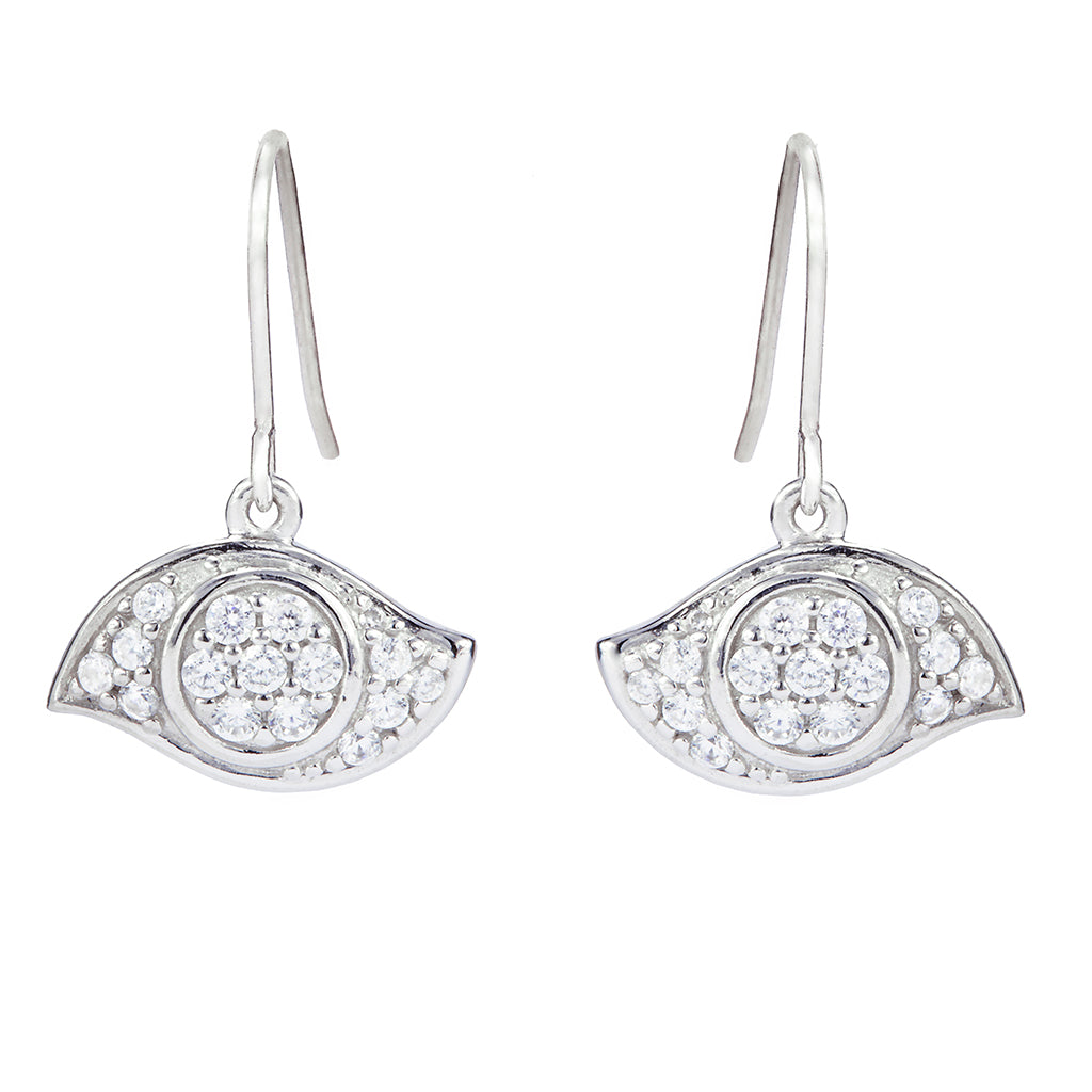 Evil Eye Wire Earrings - Lucky Look of Diamonds™