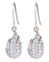 Breath of Fire Wire Earrings - Lucky Look of Diamonds™