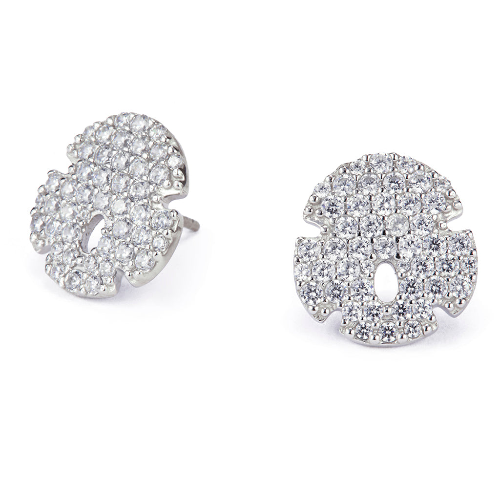 Sand Dollar Earrings - Lucky Look of Diamonds™