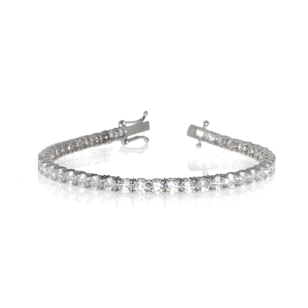 Sterling Silver Prong Set CZ Tennis Bracelet