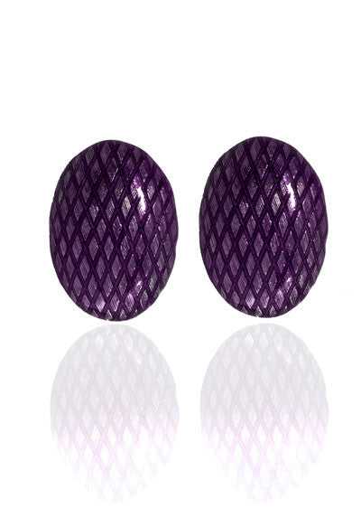 Garden of Love Amethyst Button Clip Earrings