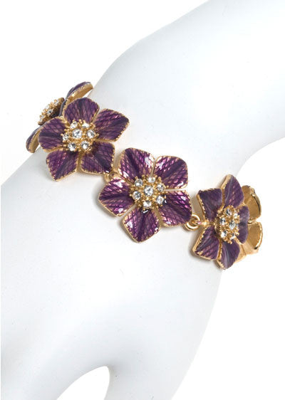Garden of Love Amethyst Flower Bracelet